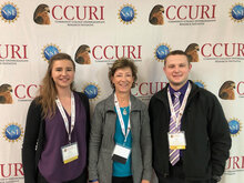 Dr. Ruth Wrightsman (center) with FVCC students