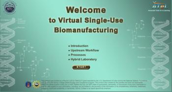 Virtual single use biomanufacturing home page