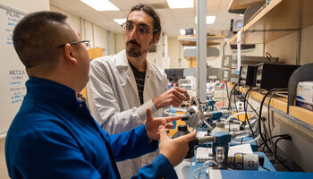 CCSF intern working in the laboratory