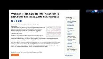 Adapting DNA barcoding for a biotechnology course