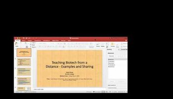 Webinar 5: Teaching Biotech from a Distance - Examples and Sharing