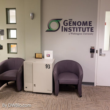 DNA sequencer at Washington University Genome Institute