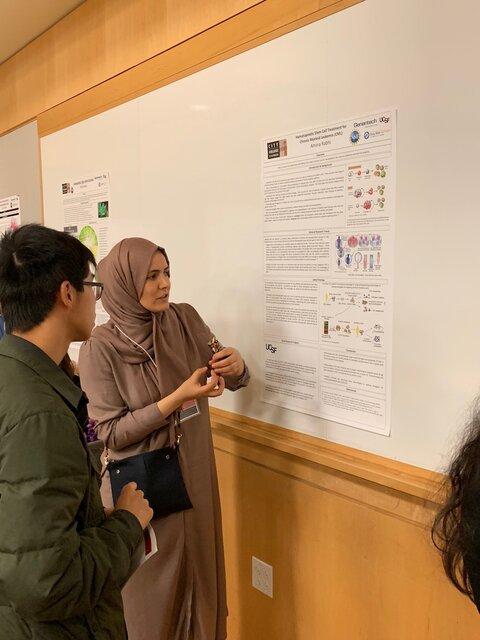 Student poster presentation