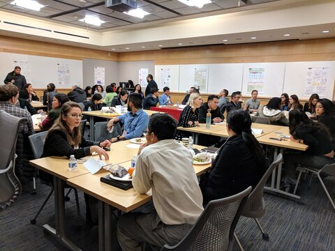 Student networking lunch