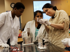Baltimore City Community College Biotech students