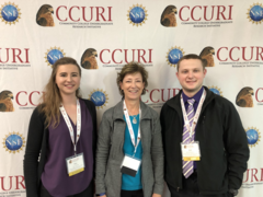 Students from Flathead Community College present their research at CCURI