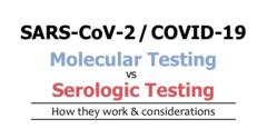 Best COVID-19 Testing Molecular or Serologic?
