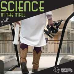 Science in the mall podcast logo