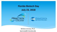 MiraCosta Biomanufacturing Bachelors